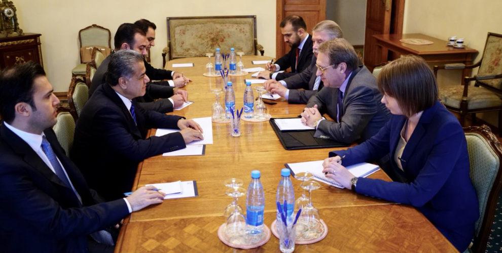 KRG Leiter der Abteilung für auswärtige Angelegenheiten trifft russischen Vizeaußenminister