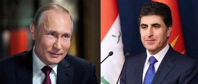 Premierminister Barzani und Präsident Putin besprechen bilaterale Beziehungen