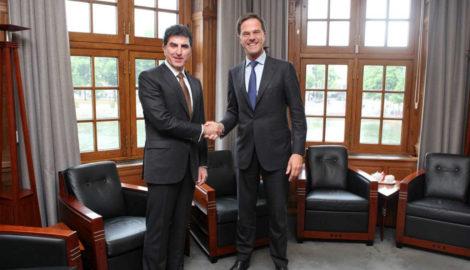 Premierminister Barzani trifft Premierminister Rutte