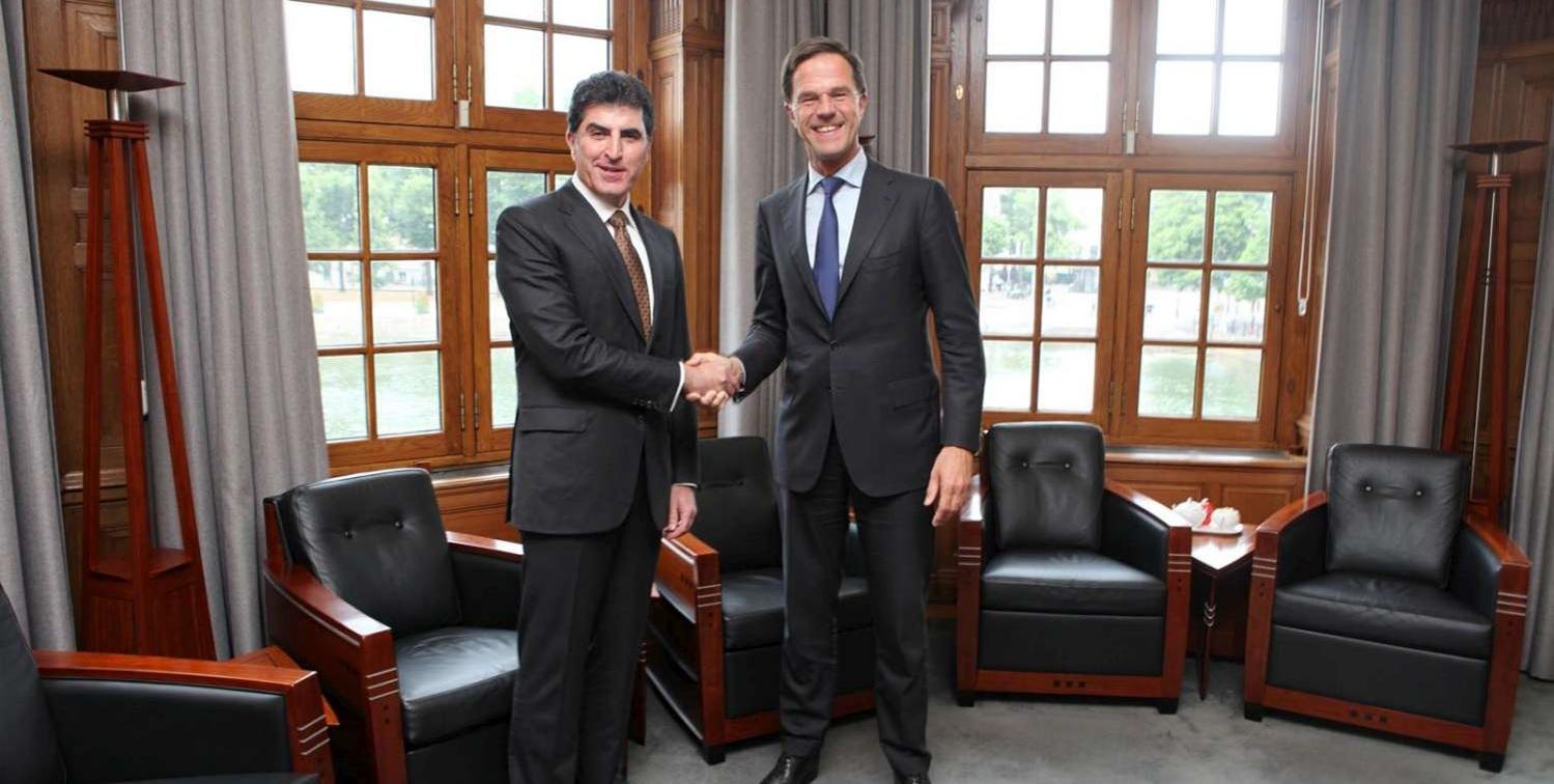 Prime Minister Barzani meets Prime Minister Rutte