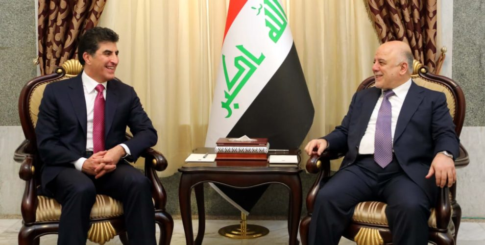 Premierminister Nechirvan Barzani trifft Premierminister Haider Al-Abadi in Bagdad