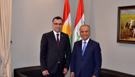 Chargé d'affaires from the Iraqi Embassy visits the KRG representation