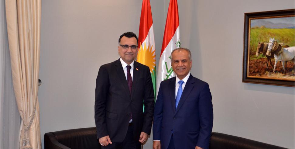 Geschäftsträger der irakischen Botschaft besucht KRG Vertretung