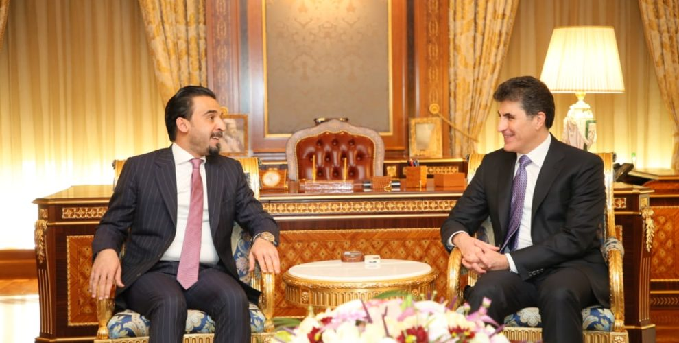 Prime Minister Barzani receives the new Speaker of Iraqi Council of Representatives