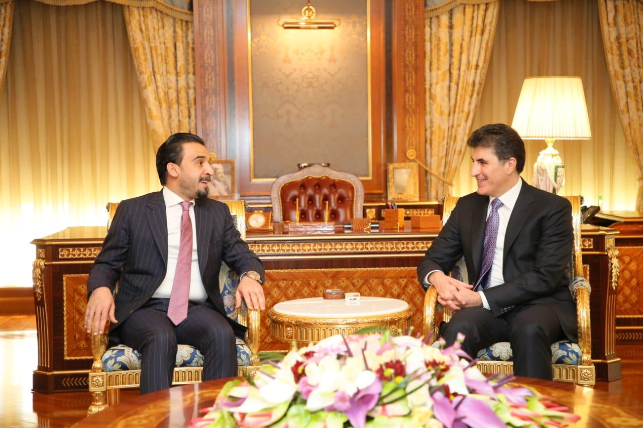 Premierminister Nechirvan Barzani empfing den neuen Sprecher des irakischen Ministerrat Mohamed al-Halbusi
