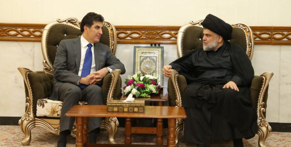 Premierminister Nechirvan Barzani traf irakische politische Führer