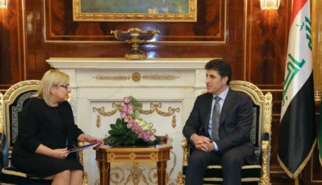 Ministerin für Humanitäre Hilfe aus Poland traf PM Barzani