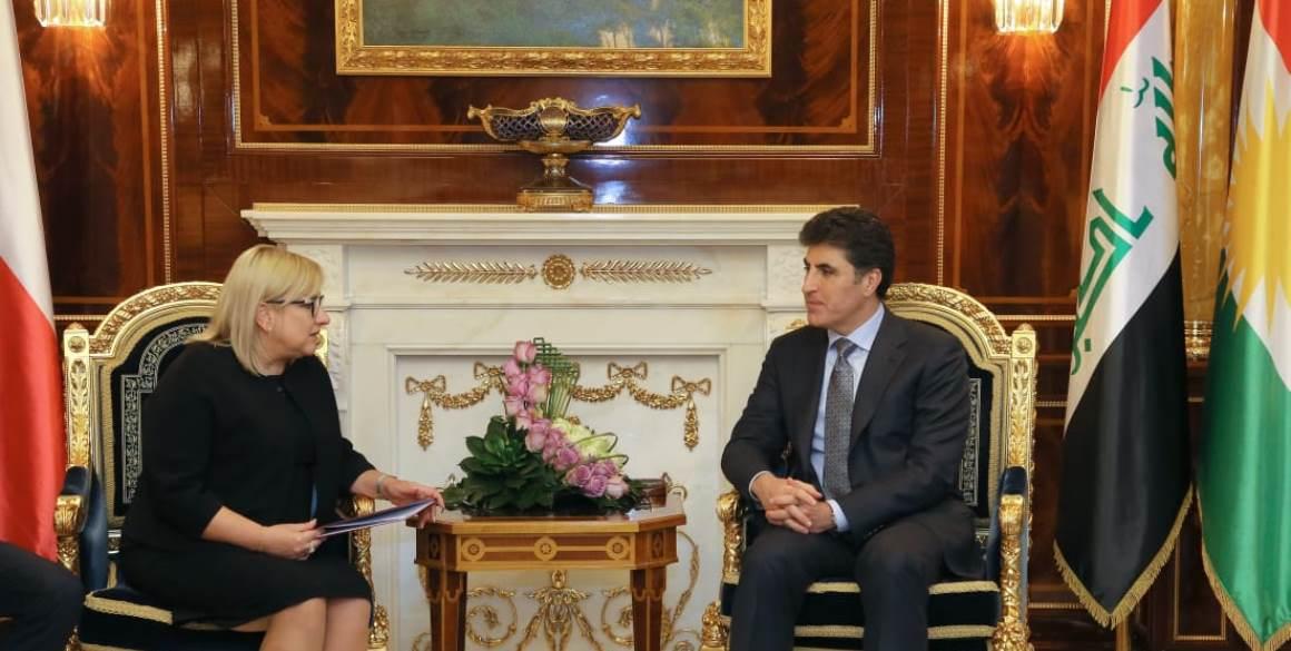Polish Minister for Humanitarian Aid meets PM Barzani