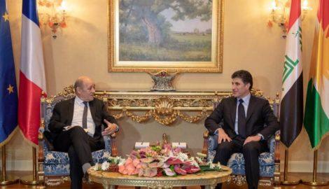 Französischer Außenminister besucht die Region Kurdistan-Irak