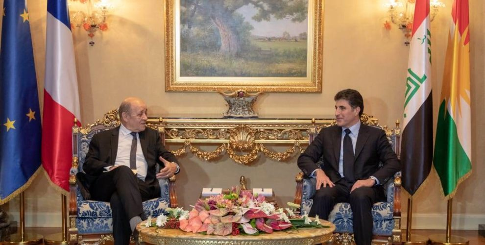 French Foreign Minister visits the Kurdistan Region of Iraq