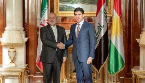 Premierminister Barzani empfängt iranischen Außenminister