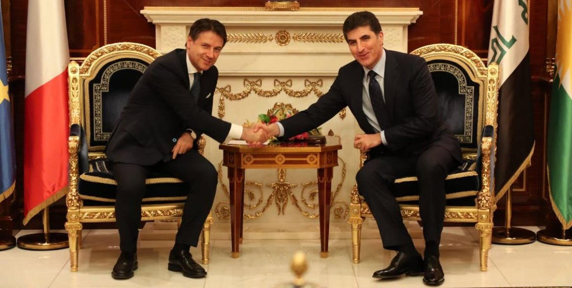 Italienischer Premierminister besucht die Region Kurdistan