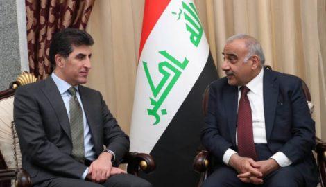 PM Barzani meets Iraqi PM Adil Abdul-Mahdi in Baghdad