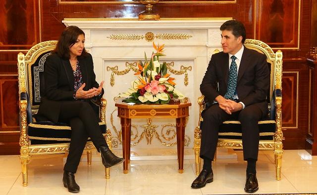Pariser Bürgermeisterin in der Region Kurdistan