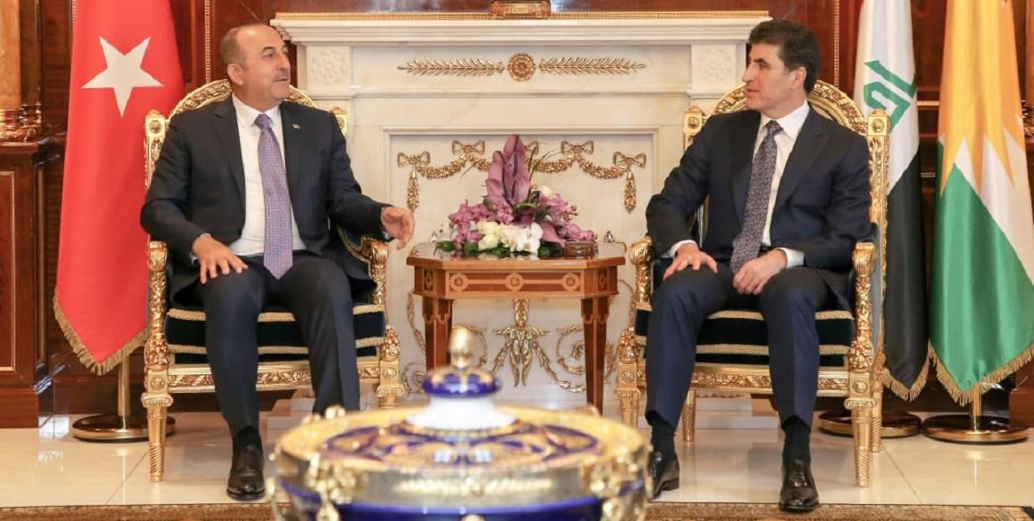 Türkischer Außenminister in der Region Kurdistan