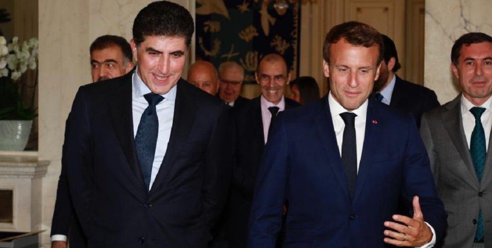 Präsident Nechirvan Barzani in Frankreich