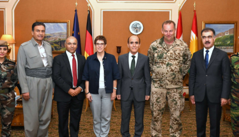 German Defense Minister in Erbil