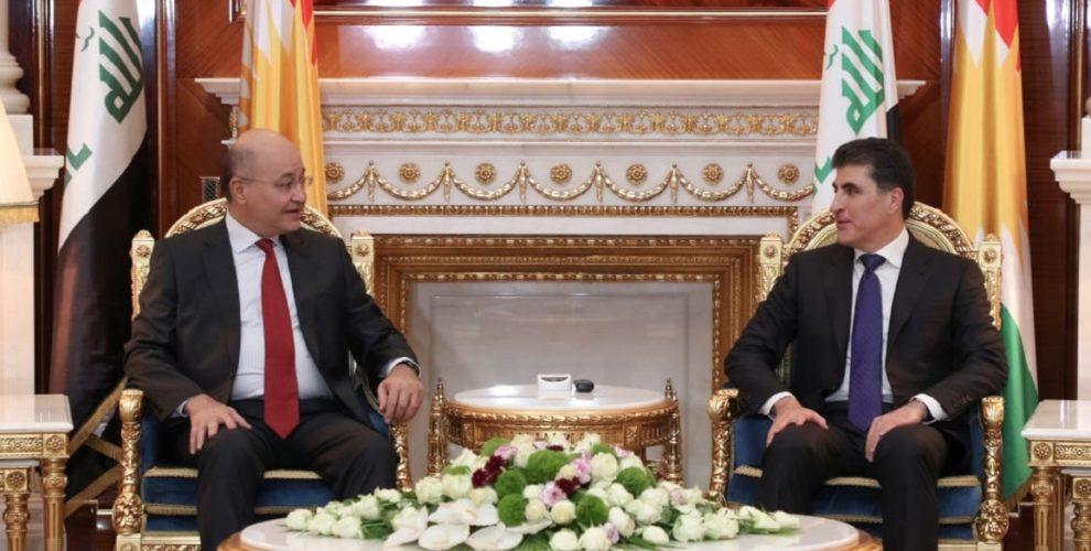 President of Iraq meets Kurdistan Region President in Erbil