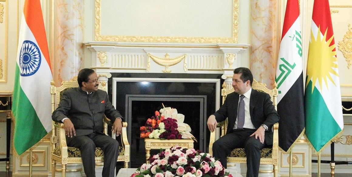 Indischer Staatsminister für Externe Angelegenheiten trifft KRI-Spitzenbeamte