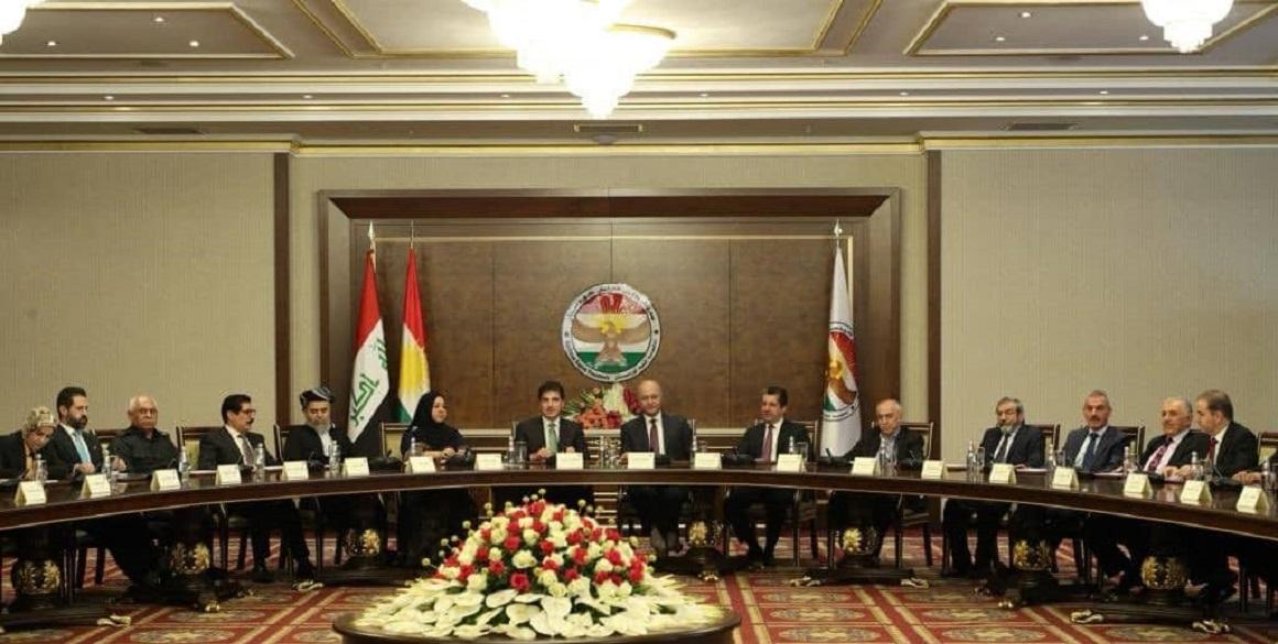 Treffen des irakischen Präsidenten mit den Institutionen Kurdistans