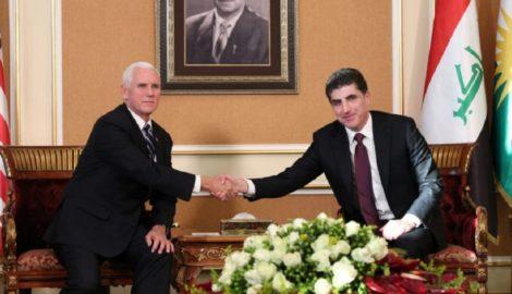 President Barzani receives US Vice President Mike Pence