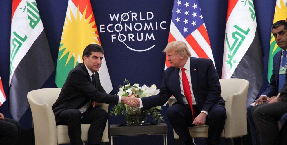 President Nechirvan Barzani and U.S. President Donald Trump discuss developments in Iraq and the region