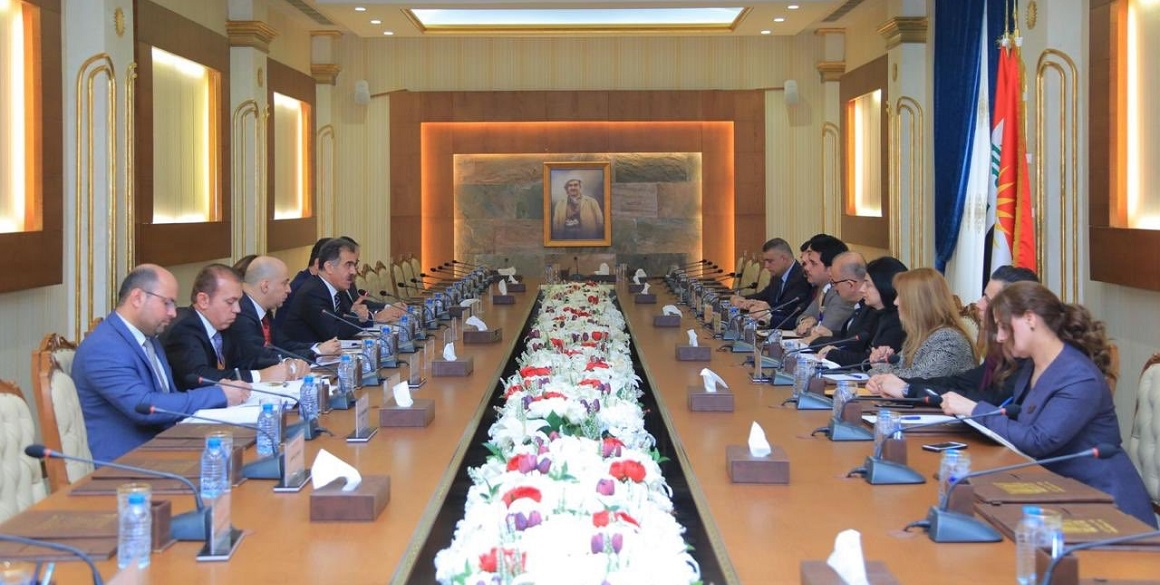 Minister Dizayee trifft den stellvertretenden Sprecher des Kurdistan Parlaments und den Ausschuss für Diaspora