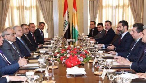 Prime Minister Masrour Barzani receives Prime Minister of Iraq Adil Abdul-Mahdi