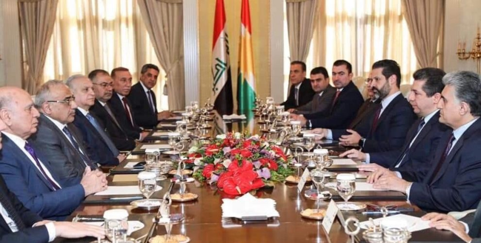 Premierminister Masrour Barzani empfängt den irakischen Premierminister Adil Abdul-Mahdi