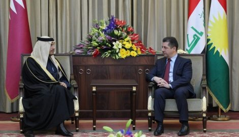 Prime Minister Masrour Barzani receives Qatar's Minister of Foreign Affairs