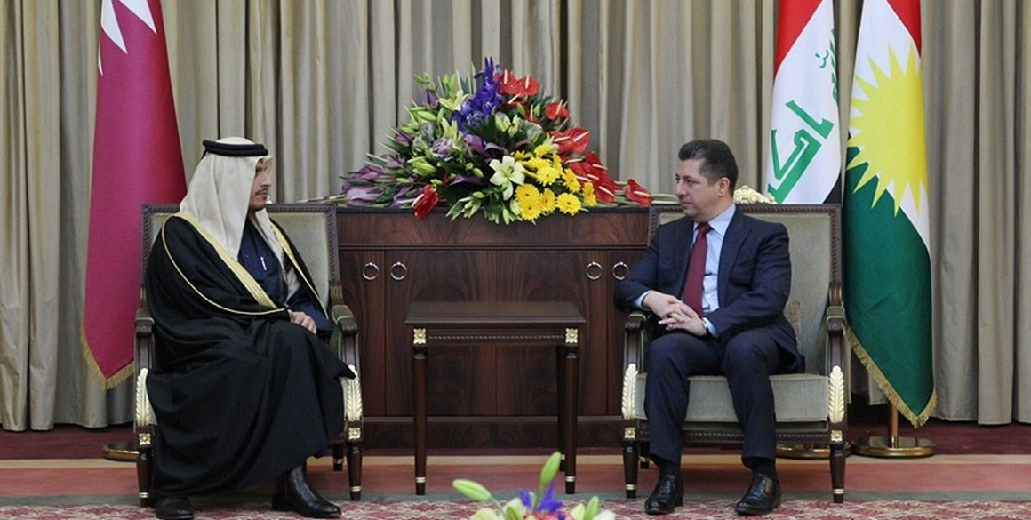 Premierminister Barzani empfängt den Außenminister von Katar