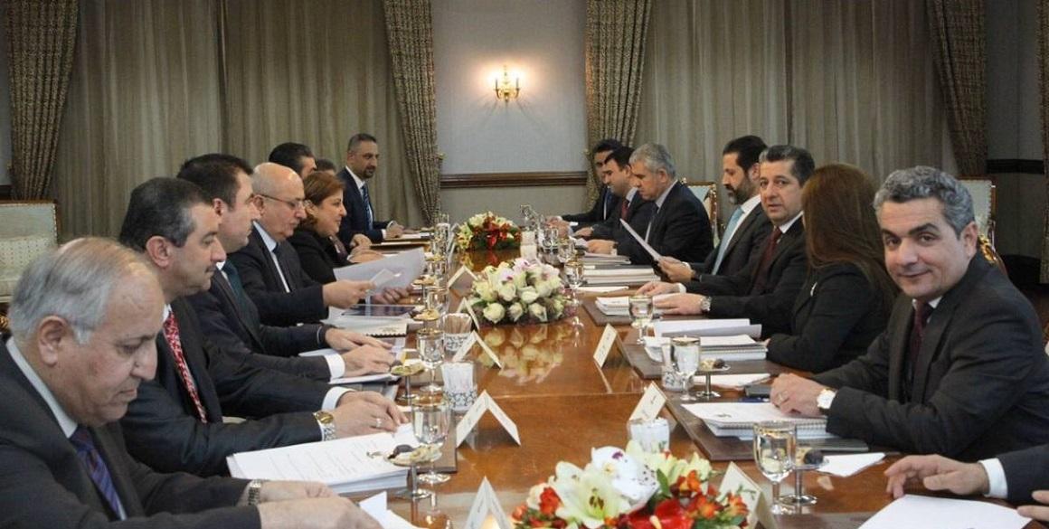 Eröffnungssitzung des Wirtschaftshochrats der Region Kurdistan