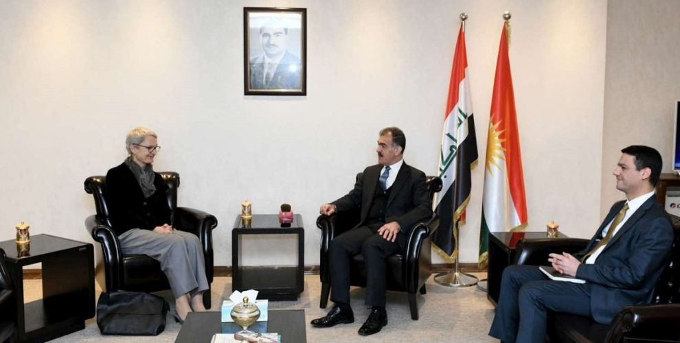 Minister Safeen Dizayee Meets Germany's Consul General in the Kurdistan Region