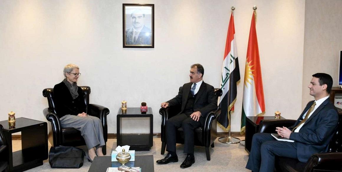 Minister Safeen Dizayee trifft die deutsche Generalkonsulin in der Region Kurdistan
