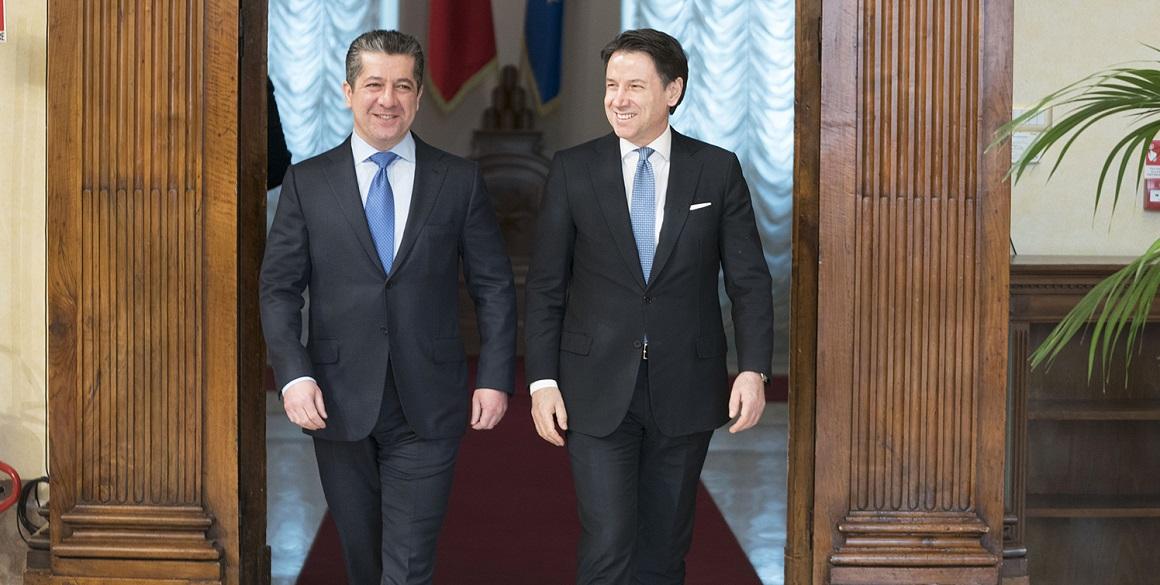 Premierminister Masrour Barzani trifft den italienischen Premierminister in Rom