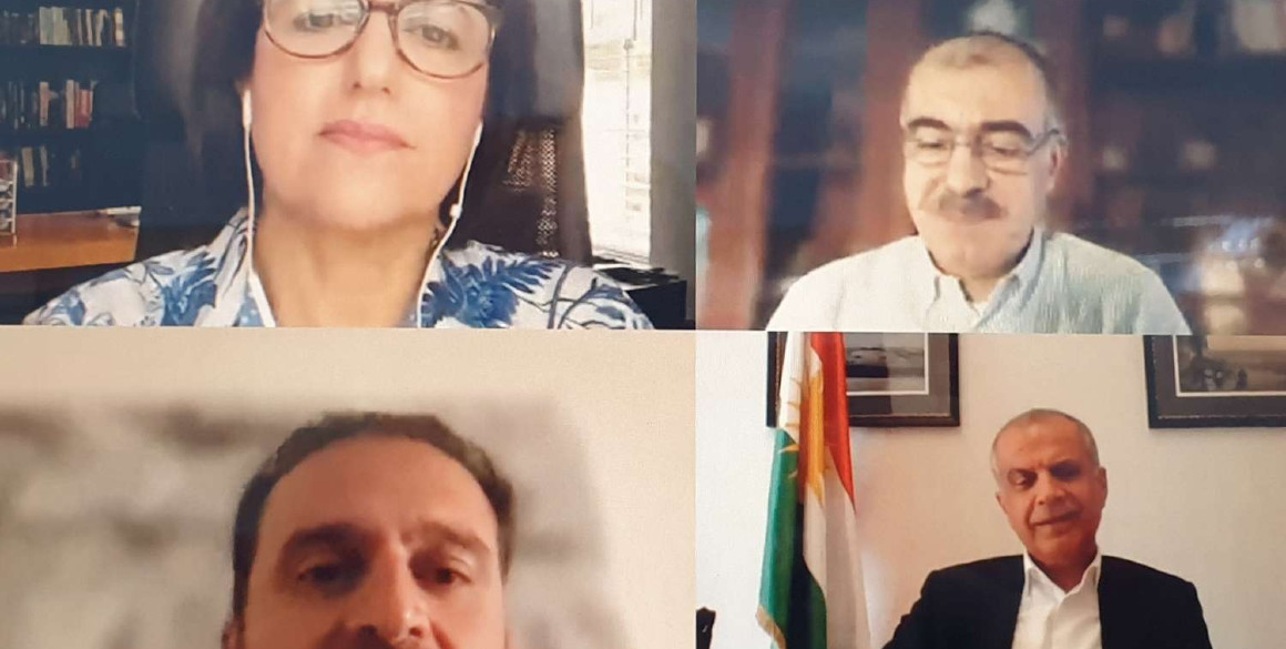 Minister Safeen Dizayee in virtual meeting with KRG Representatives