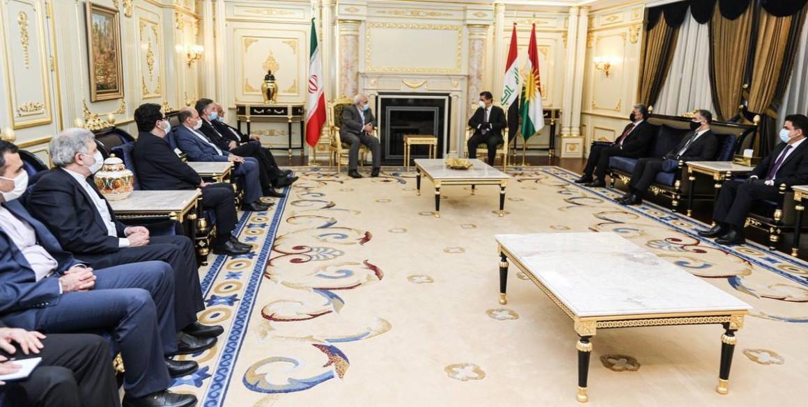 Der iranische Außenminister trifft hochrangige Beamte der Region Kurdistan