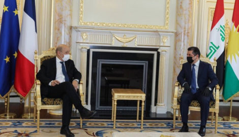 French Foreign Minister visits the Kurdistan Region