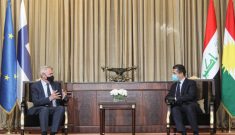 Prime Minister Barzani receives Finnish Foreign Minister