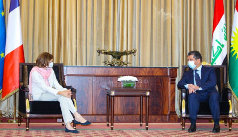 Prime Minister Masrour Barzani receives French Minister for the Armed Forces