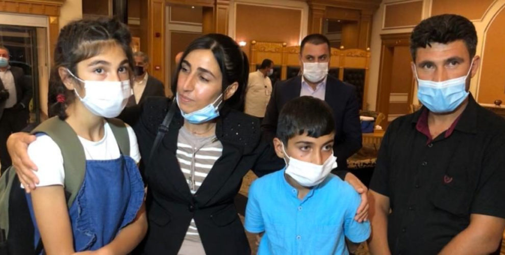Two Yazidi children reunited with family in Kurdistan Region