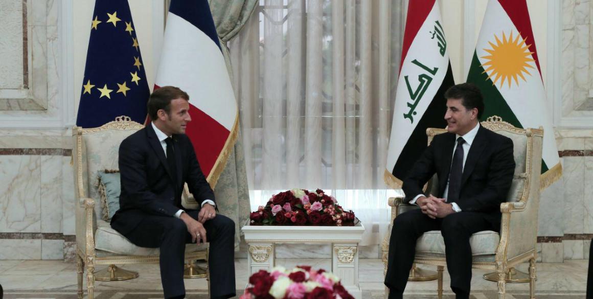 Französischer Präsident Emmanuel Macron bekräftigt seine Unterstützung für die Region Kurdistan