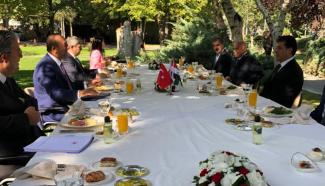 President Barzani meets with Foreign Minister of Turkey