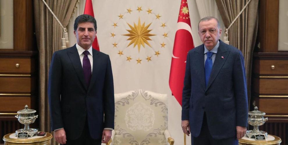 President Nechirvan Barzani meets with Turkey's President Receb Tayyip Erdogan