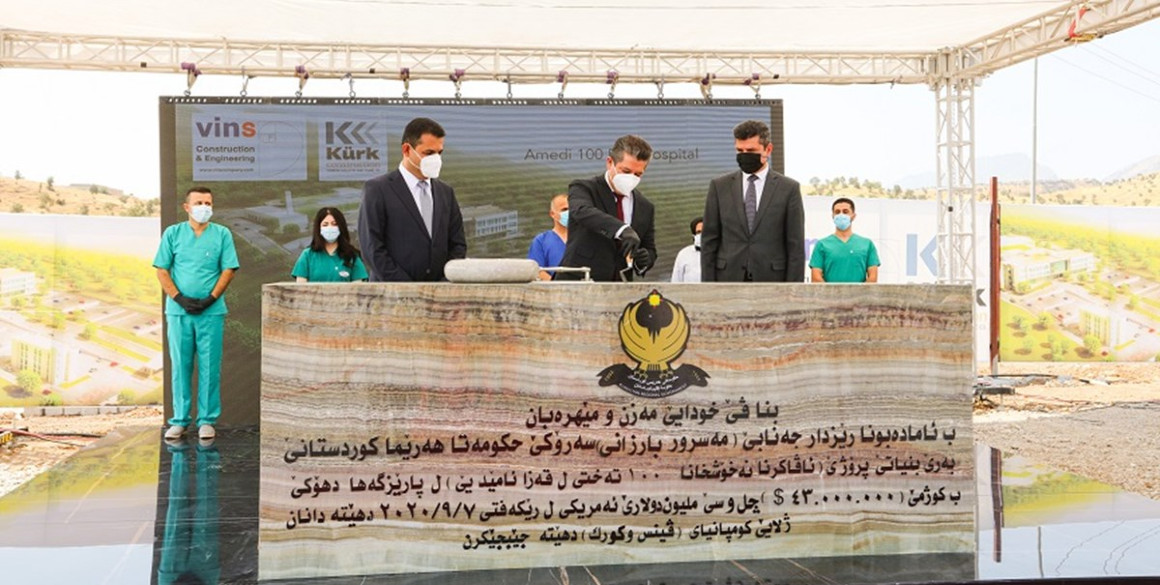 Prime Minister Barzani lays foundation stone of hospital in Amedi