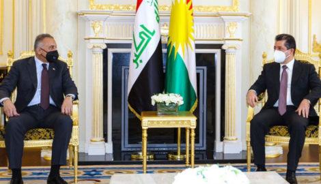 Premierminister Masrour Barzani empfängt den irakischen Premierminister Mustafa Al-Kadhimi