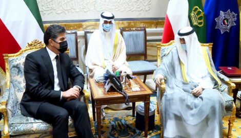 Kurdistan Region President meets with the Emir of Kuwait
