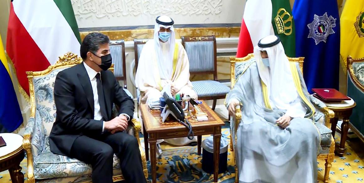 Der Präsident der Region Kurdistan trifft sich mit dem Emir von Kuwait