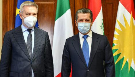 Italienischer Verteidigungsminister besucht die Region Kurdistan