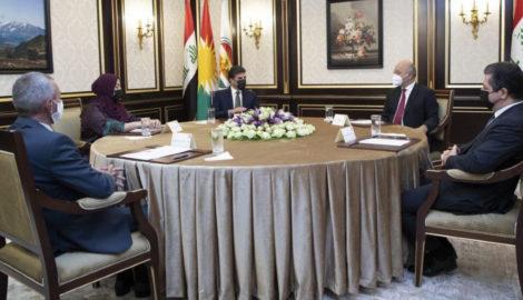 Meeting of Kurdistan Region Presidencies with Iraq's President
